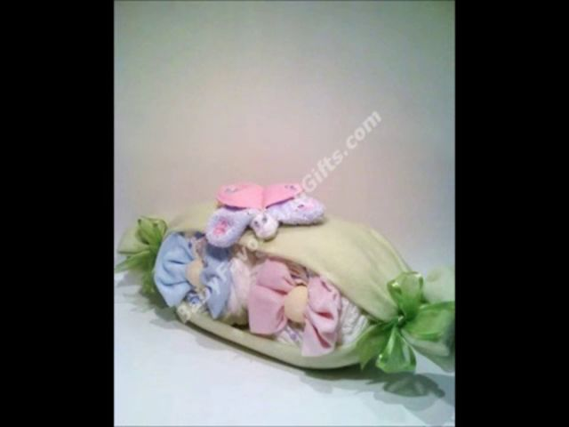 How to make a diaper cake tutorial