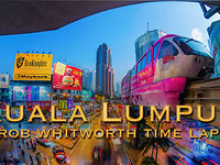 Helskön timelaps över Kuala Lumpur