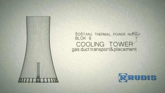 Cooling tower - gas duct and placement