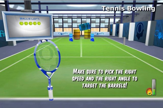 CogniFit Tennis Bowling - English Tutorial