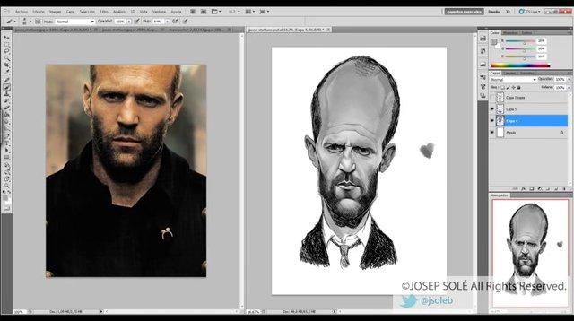 Jason Statham caricatu...