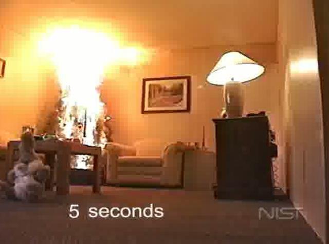 Christmas tree fire on vimeo