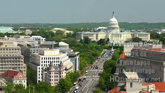 Washington D.C.` USA - HD 2K 4K Time Lapse Stock Footage Royalty-Free