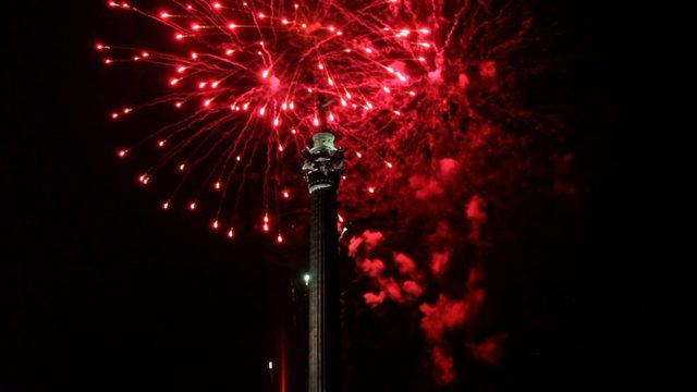 Fireworks at Brock Monument Commemorating War of 1812 Battle of  Queenston Heights and the Life of Major General Sir Isaac Brock