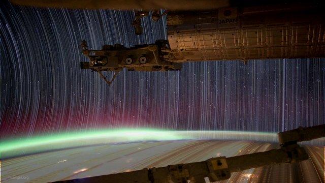 ISS Startrails - TRONized