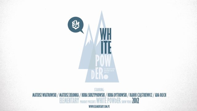 WHITE POWdER Official Trailer / Elementary snow video 2012