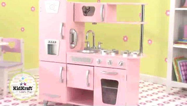 Wonder Toy Kidkraft Kuchnia dla dzieci Różowa Vintage Pink   -> Kuchnia Dla Dzieci Kinderkraft