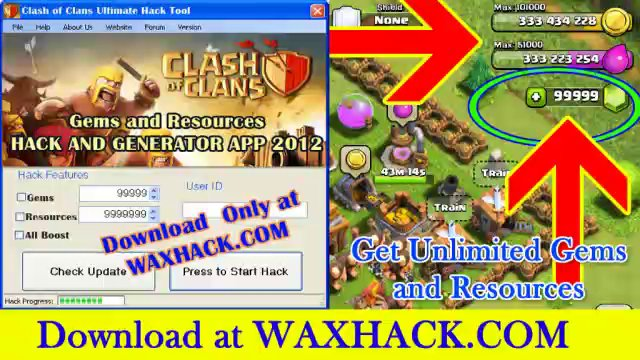 Clash of Clans Cheats - Get 9999999 Gems and Resources for Free