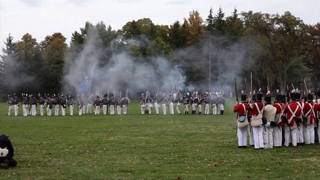 War of 1812 Battle of Queenston Heights Historic Re-enactment near Brock Monument