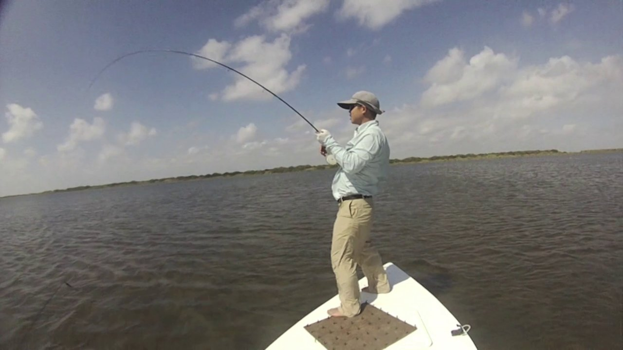 Saltwater fly fishing for red fish in port o 39 connor on vimeo for Port o connor fishing