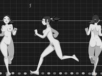 Animated walks and runs
