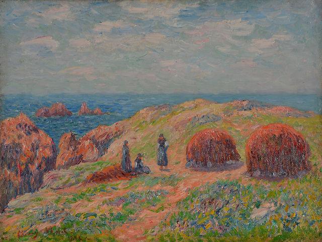 """Henry MORET (1856-1913) """"Falaise d'Ouessant"""""""