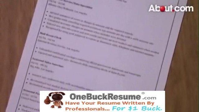 resume writing video tutorial