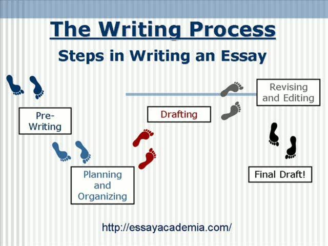 What is to describe when writing an essay