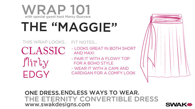 "SWAK Designs Wrap 101 - The ""Maggie"" Style for our Plus Size Eternity Convertible Dress"
