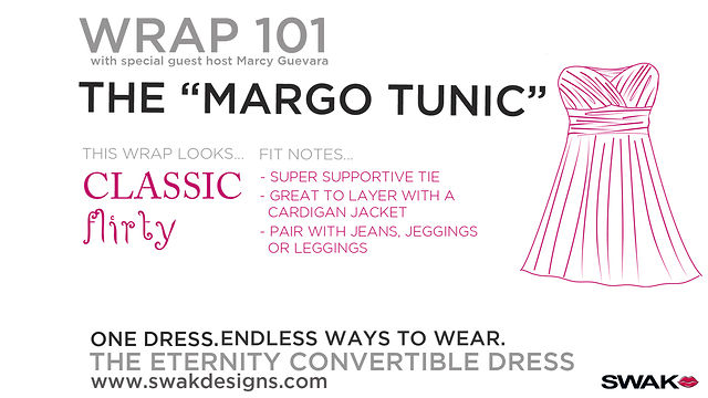 "SWAK Designs Wrap 101 - The ""Margo Tunic"" Style for our Plus Size Eternity Convertible Dress"