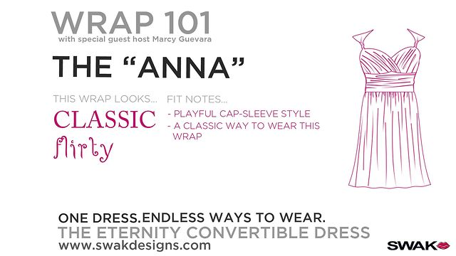 "SWAK Designs Wrap 101 - The ""Anna"" Style for our Plus Size Eternity Convertible Dress"