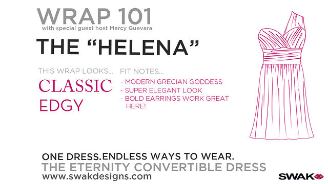 "SWAK Designs Wrap 101 - The ""Helena"" Style for our Plus Size Eternity Convertible Dress"