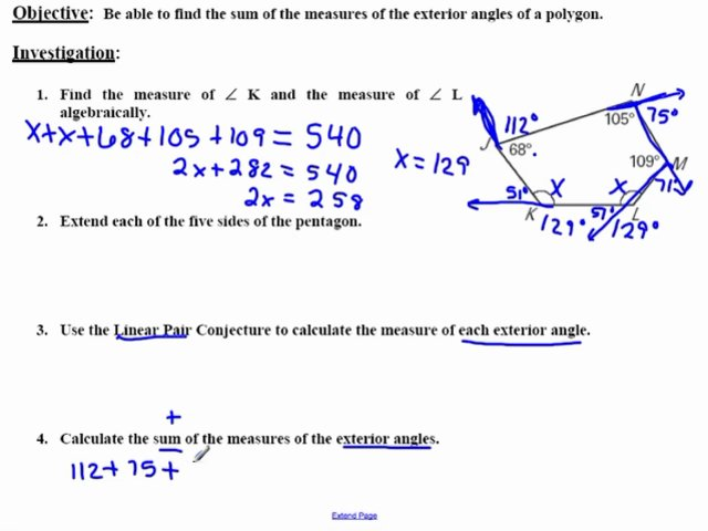 Alggeo2 4 2 polygon exterior angle sum - Sum of exterior angles of polygon ...