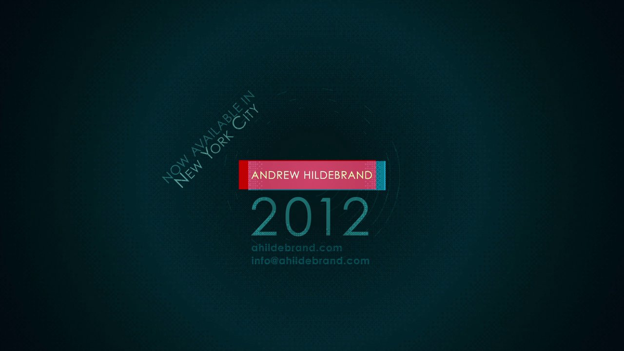 Andrew Hildebrand 2012 Showreel