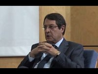Presidential Candidate Mr Nicos Anastasiades at UEL-Cyprus, November 1st