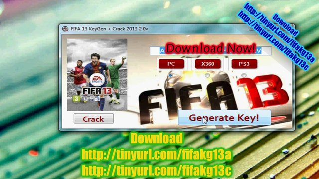 FIFA 13 KeyGen + Crack 2013 2.0v Serial Code NEW Recent