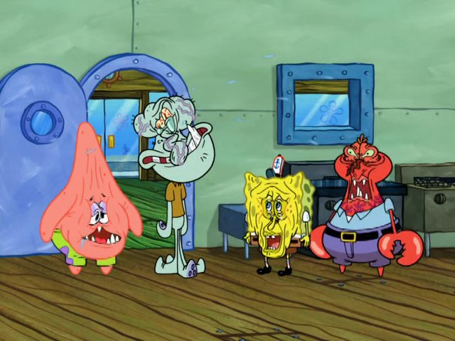 morals because SpongeBob Squidward Screaming At Spongebob