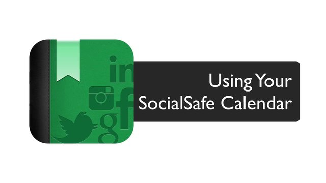 Using your SocialSafe Calendar