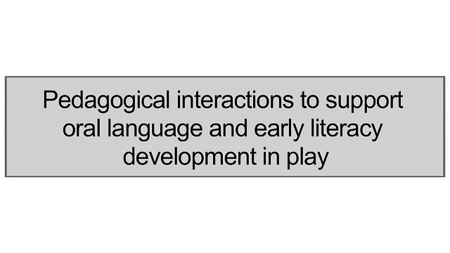 2.7 Pedagogical Interactions To Support Oral Language And Early Literacy Development In Play
