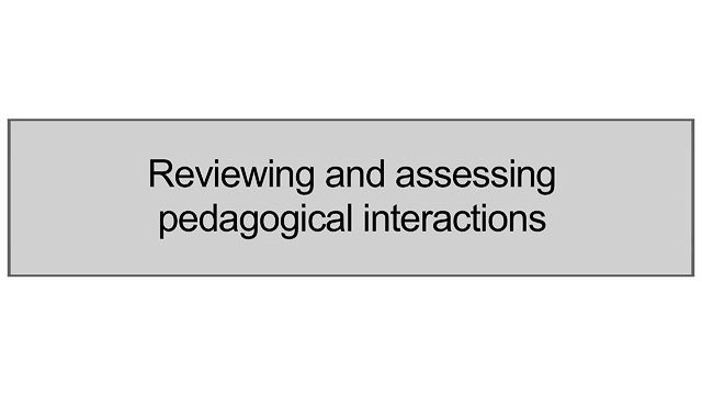 Reviewing And Assessing Pedagogical Interactions