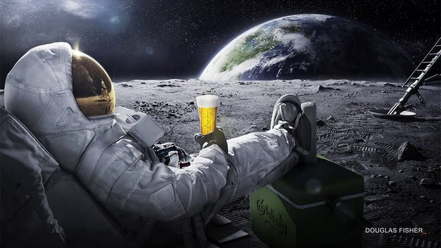 astronaut drinking miller lite beer - photo #8