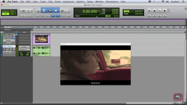 Pro Tools 10 Tutorial - Working with Film/Video Pt2 - Timecode