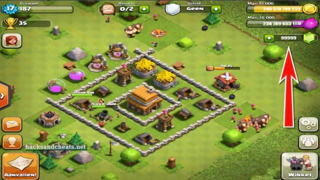 Clash of Clans Triche [gemmes, ressources, niveau, bouclier] iOS Android Telecharger