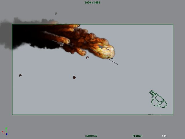 Maya Fluids RPG Helicopter Hit and Explosion Part 01  The Hit Rpg Explosion