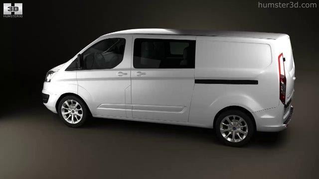 Ford Transit Custom Crew Van LWB 2013 by 3D model store Humster3D.com