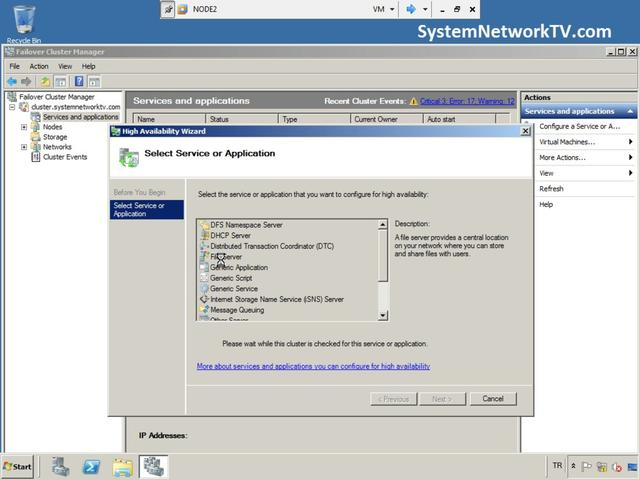 Windows Server 2008 R2 File Server Cluster