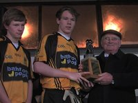 Cup Presentation to St Enda's