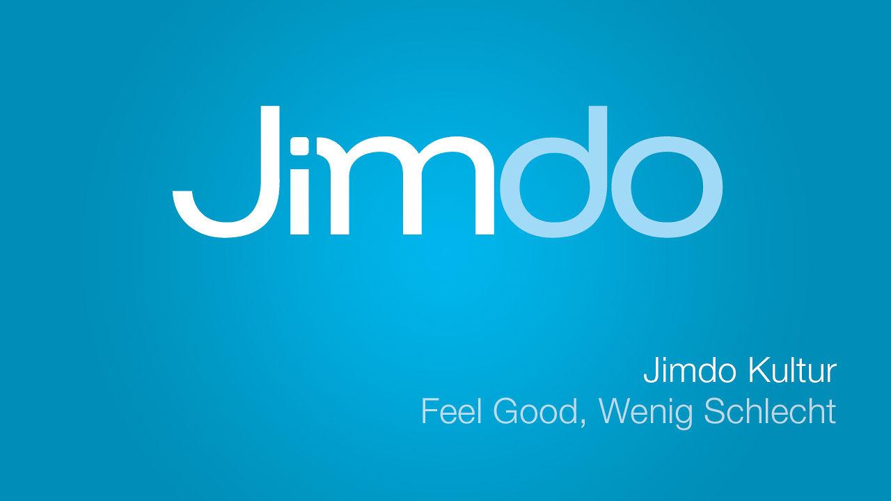 Unternehmenskultur bei Jimdo - Feel Good, Wenig Schlecht ...
