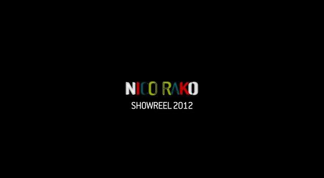 Nico Rako's 2012 showreel