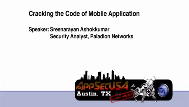 Cracking the Code of Mobile Application - Sreenarayan Ashokkumar