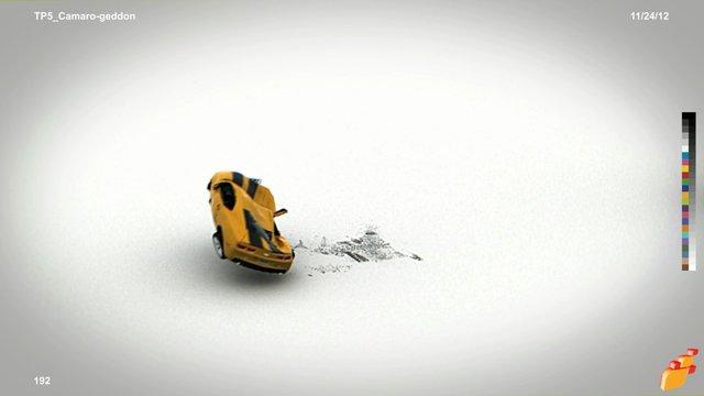 Camaro-geddon (TP5 BulletVehicle, Cloth, SnowPrint, VRay)