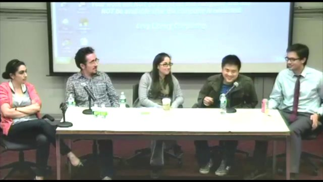 Mount Sinai Student Panel on Pre-Doctoral Research Fellowships, October 2012