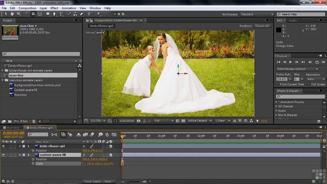 Adobe After Effects CS6 Tutorial | Using The Camera To Animate Still ...