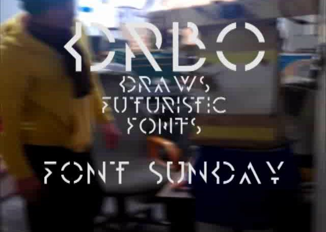 DRBO does Futuristic Fonts