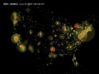 The New York Times site traffic, US, June 25, 2009