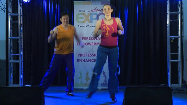 Marija Bojic, Zumba Demonstration. Toronto Women&#039;s Expo, Downsview Park, Studio 3, December 1, 2012