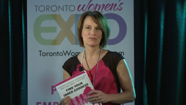 "Jennifer Ettinger, ""Find Your Inner Goddess"", Toronto Women's Expo 2012, Downsview Park, Studio 3"