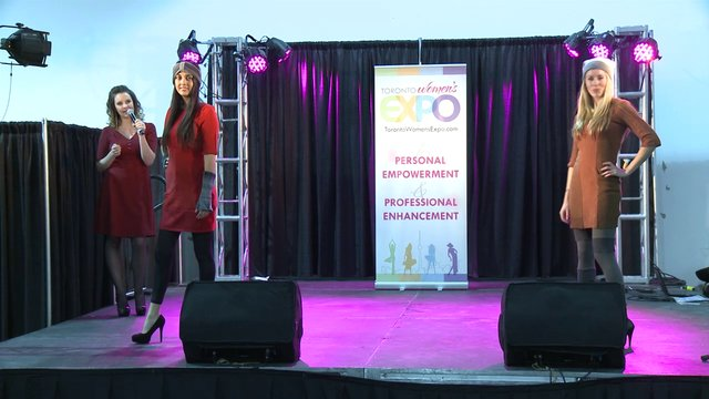Samantha Stylish Fashion Show at Toronto Women's Expo, Downsview Park, Studio 3,  December 2, 2012