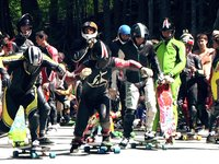 World Class Downhill Skateboard Racing