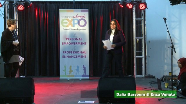 "Dalia Baroum & Enza Venuto, ""Strategies to Complement Your Income"", Toronto Women's Expo, Downsview Park, Studio 3"